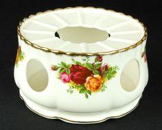 Royal Albert Old Country Roses Porcelain Tea / Coffee Pot Warmer 1973-93