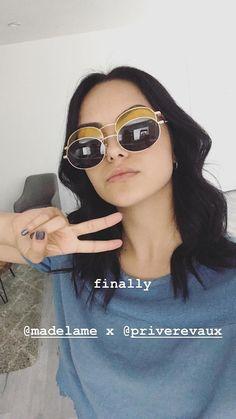 Camila Mendes Watch Riverdale, Riverdale Cast, Heart Sunglasses, Sunglasses Women, Camila Mendes Veronica Lodge, Camila Mendes Riverdale, Riverdale Veronica, Camilla Mendes, Charlotte