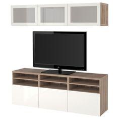 BESTÅ, TV-Komb. mit Vitrinentüren, grau las. Nussbaumnachb., Jetzt bestellen unter: https://moebel.ladendirekt.de/wohnzimmer/tv-hifi-moebel/tv-waende/?uid=ce4a880a-e48e-574d-ab58-46a16f3a5c61&utm_source=pinterest&utm_medium=pin&utm_campaign=boards #tvwaende #wohnzimmer #tvhifimoebel