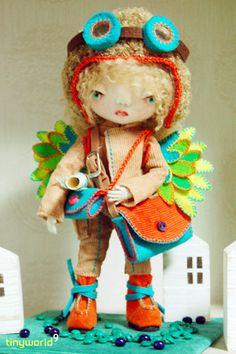 needle felted doll NAROO by tinyworld9a, via Flickr