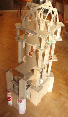 Very impressive upcycled cardboard chateau - click through to see the finished pics! by pplaceman, via Flickr