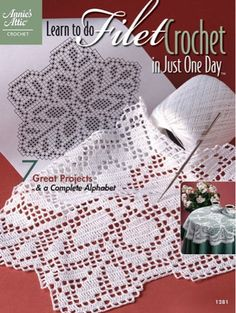 Picture of Learn to do Filet Crochet in just one Day