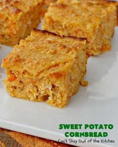 Sweet Potato Cornbread – Can't Stay Out of the Kitchen Sweet Potato Cornbread, Moist Cornbread, Honey Cornbread, Mashed Sweet Potatoes, Sweet Potato Recipes, Cornbread Recipes, Keto Corn Bread, Recipe Using Honey