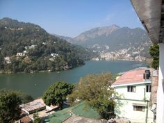 Lovely Hillstations for holidays! This one is Nainital with the tear shaped lake in the middle. This photo was taken from the balcony of our hotel.