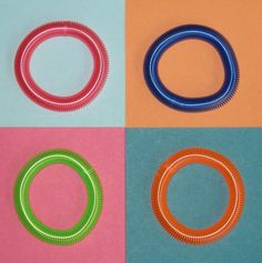 coil bracelets! I'd wear several colors and they were always getting tangled