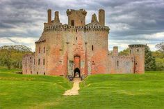 Great shot of Cearlaverock Castle, Scotland - Border Reiver Maxwell stronghold