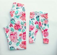 Spring Mom & Baby Matching Flower Floral Leggings.  Mommy & Me leggings!!  So cute!!  And less than $10 a pair, yes!  Luxxology.com/#inthepink