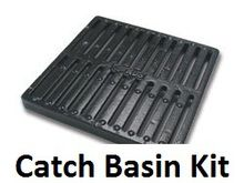 """NDS 9"""""""" Two Hole Catch Basin Kit w/ Cast Iron Grate"""
