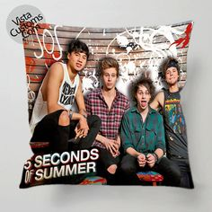 5 Seconds Of Summer pillow case, cover ( 1 or 2 Side Print With Size 16, 18, 20, 26, 30, 36 inch )
