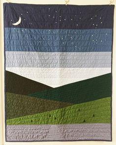 NightSky Quilt Tutorial | Etsy Modern Quilting Designs, Modern Quilt Patterns, Beginner Quilt Patterns, Quilt Designs, Loom Patterns, Boys Quilt Patterns, Beginner Quilting, Quilt Modern, Patchwork Patterns
