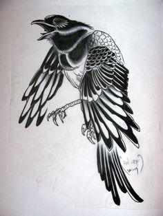 tattoo crow/raven