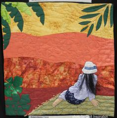 Gauguin - inspired quilt by Evelyne Beasse (France). Quilt Inspiration: World Painter's Challenge.  2016 AQS QuiltWeek.