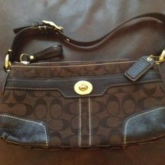 REDUCED!!!! Authentic Coach bag Small chocolate brown shoulder bag Coach Bags