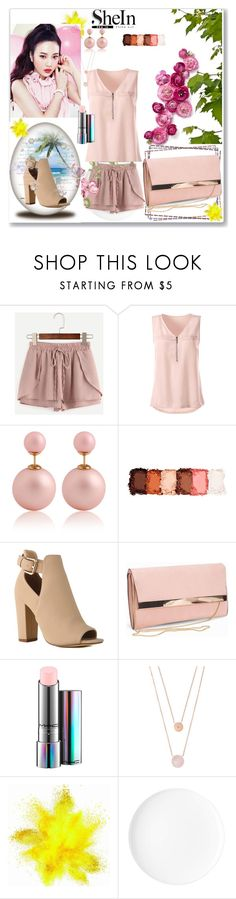 """Shein / pink shorts"" by hurem1 ❤ liked on Polyvore featuring Etude House, NYX, New Look, MAC Cosmetics and Michael Kors"