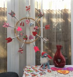 Craftside: How to Make a Duck Tape Arrow and Embroidery Hoop Valentine's Day Wreath