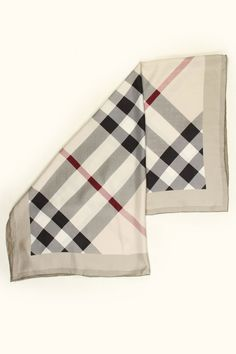 Burberry Check Silk Scarf In Trench Check.
