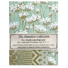 Mint/Gold The Nepalese Collection Lokta Paper Packs