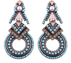 You'll Remember Earrings - Turquoise