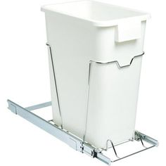 "Glidez Heavy-Duty 19"" Large 36 qt Trash Can Sliding Cabinet Organizer, Chrome $59.97 Online Price"