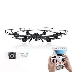 Drone with 1 megapixels FPV Camera Controlled By Smartphone 6 Axis Rc Quadcopter with Camera  Black *** Details can be found by clicking on the image. This Amazon pins is an affiliate link to Amazon.