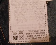 funny clothing tags - Google Search