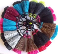 thick double horse hair tassels by Knot-a-Tail.com equestrian gift The tassel is from http://knot-a-tail.com/catalog/16  #horsehair tassels
