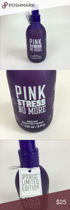 VS limited edition Pink stress no more mood mist 💜💜💜💜💜💜VS limited edition Pink stress no more mood mist  💜💜💜💜💜💜 PINK Victoria's Secret Accessories