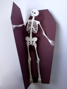 Could use Cricut Dress Up Paper Dolls skeleton to Case this idea!