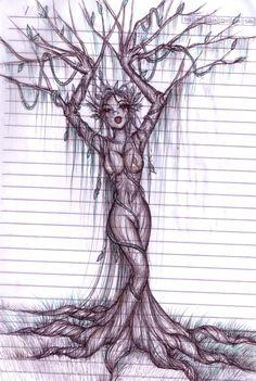 tree woman drawing | tree woman by mykanazario on deviantART