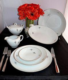 Vintage Atomic ARITA Handpainted Dinnerware by DesignsInVintage, $249.00
