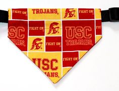 Over the Collar, Reversible Dog Bandana, University of Southern California, USC, Trojans, Bell Art Designs, Large USC Trojans Pet Products #Football #NCAA #NCAADogProducts #NCAAPetProducts #DogProducts #PetProducts #TrojanDogProducts #TrojanPetProducts #USCDogProducts #USCPetProducts #USCTrojans #USCTrojansDogs #USCTrojansPets #Trojans #USC #SC #Animals #Dogs #Pets #AdorabullBulldogs #PawsativeParents