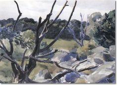 Edward Hopper (1882-1967) Dead Trees Gloucester, 1923
