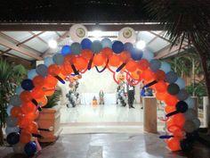 Monster balloons arch, balloons decorations, beautiful balloons arco de globos de monstruo, Halloween balloonñ