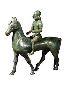 Statuette de cavalier. Vers 560-550 av. J.C. Lieu de découverte : Basilicate (origine). Royaume-Uni, Londres, British Museum