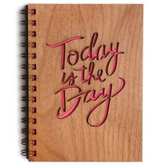 Inspirational Journal: Today is the Day por Cardtorial en Etsy