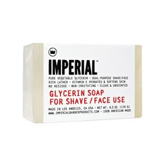 Imperial Glycerine Face/Shave Soap, $12.00 #birchbox