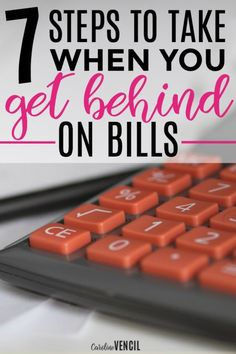 These are amazing! I love how she talks about bills and finances! She just always gets it. What Do You Do When You Get Behind on Bills. Steps to take when you can't pay your bills. What to do when you can't pay your bills. Family finance. Steps to take wh