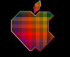 Apple, 3d, logo.