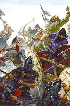 Varangian Guard John Comnenus in the battle with the Pechenegs, Vereiskaya War, 1121-1122