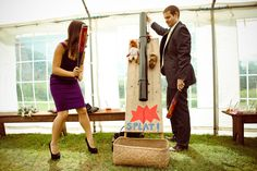Jo and Adam's Village Fete Themed Wedding, Complete With Sack Race by Joel Smith