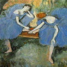 """Saatchi Art Artist Svetà Art; Painting, """" Danseuse d'après Degas"""" #art"""