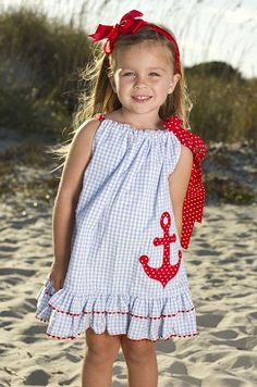 nautical pillowcase dress/top