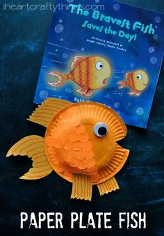 Create this fun paper plate fish craft to go along with one of your favorite children's fish books!