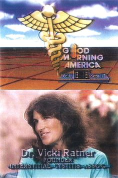 Watch these videos of ICA's founder, Dr. Vicki Ratner, on Good Morning America in 1984 and see how far IC and ICA have come in 30 years.  https://www.youtube.com/watch?v=tLjfbxqwKyc&list=UUb3yfLzyvRjua3qdmrUZgqA  Help make IC a thing of the past by donating to ICA on #GivingTuesday. https://www.ichelp.org/GivingTuesday