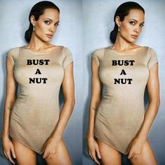 Angelina Jolie ! Nice shirt!