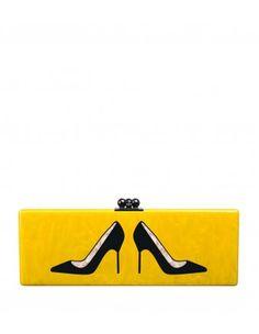 Edie Parker Flavia Emoji Shoes Clutch - Shop more chic Edie Parker pieces at ShopBazaar.com http://shop.harpersbazaar.com/designers/edie-parker