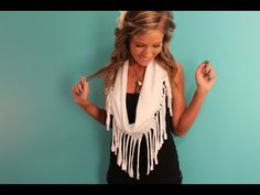 DIY Fringe Scarf Tutorial