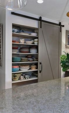 #homedecor #kitchenideas #inspiration | Design ideas for a mid-sized transitional l-shaped eat-in kitchen in Charleston with gray cabinets, an undermount sink, recessed-panel cabinets, quartz countertops, stainless steel appliances and an island. — Houzz                                                                             Source