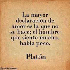 La mayor declaración de Amor. Platón