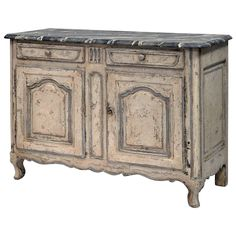 19th Century French Louis XV Style Buffet, Painted | From a unique collection of antique and modern buffets at https://www.1stdibs.com/furniture/storage-case-pieces/buffets/